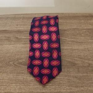 Ted Baker London Geometric Blue & Pink Tie